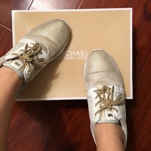 Michael Kors Gold Trainers